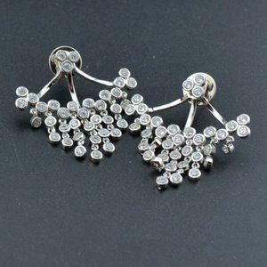 Henri Bendel Wild Zircon Inlaid Tassel Earrings